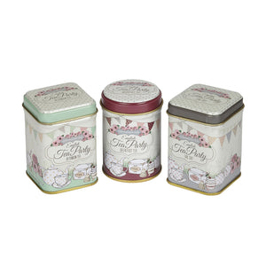 English Tea Party Mini Tea Tin Gift, with loose-leaf black tea