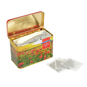 Poppy Tea Tin with 40 English Breakfast teabags