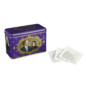 Duke and Duchess of Cambridge Tin with 40 English Breakfast teabags