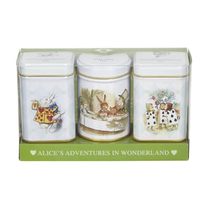 Alice in Wonderland Mini Tea Tins gift with loose-leaf black tea Black Tea New English Teas