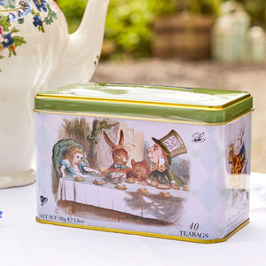Alice In Wonderland Tea Tin with 40 English Afternoon Teabags Black Tea New English Teas