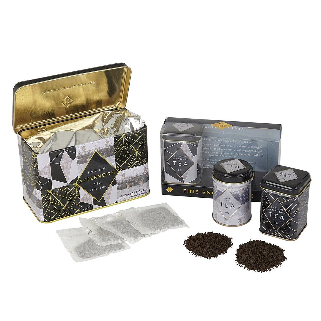 Art Deco English Tea Gift Set Black Tea New English Teas