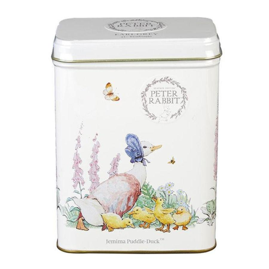 Beatrix Potter, Jemima Puddle-Duck Tea Tin with 40 Earl Grey teabags Black Tea New English Teas