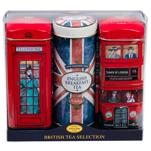 Best of British Tall Tea Tin Collection with 42 teabags Black Tea New English Teas