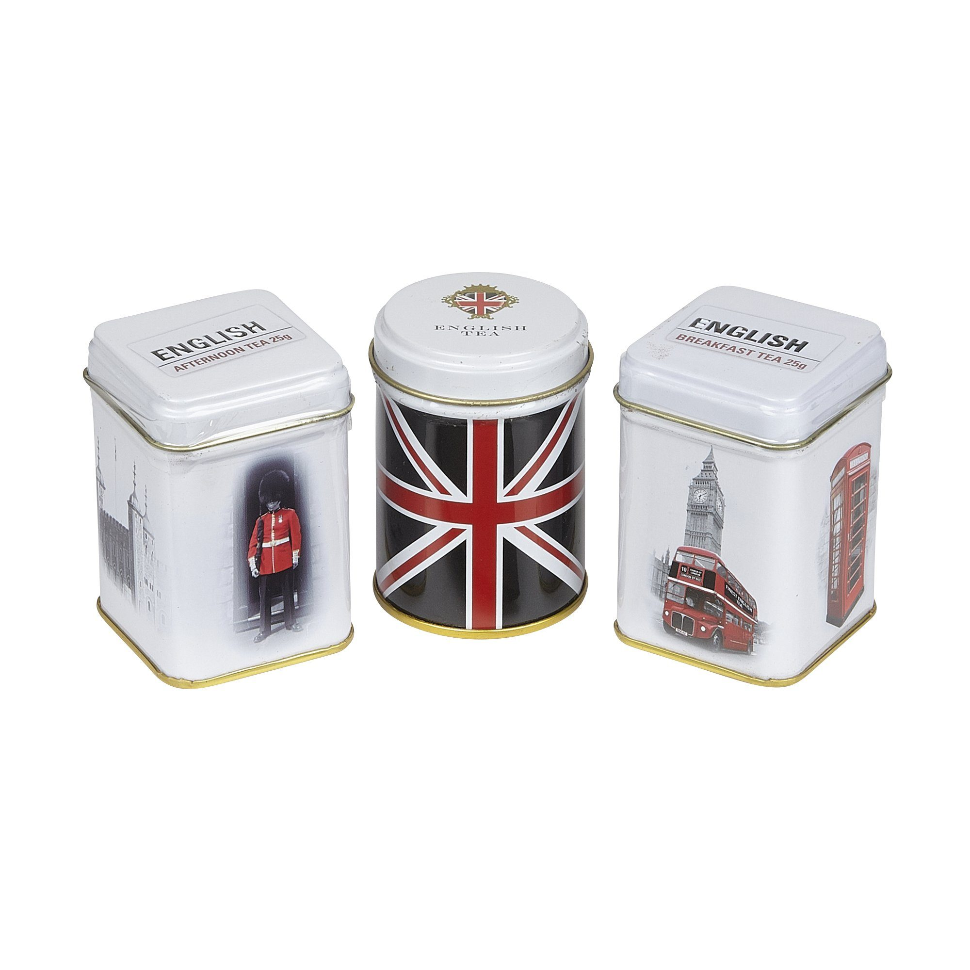 Best of British Triple Tea Selection Mini Tin Gift Pack Black Tea New English Teas