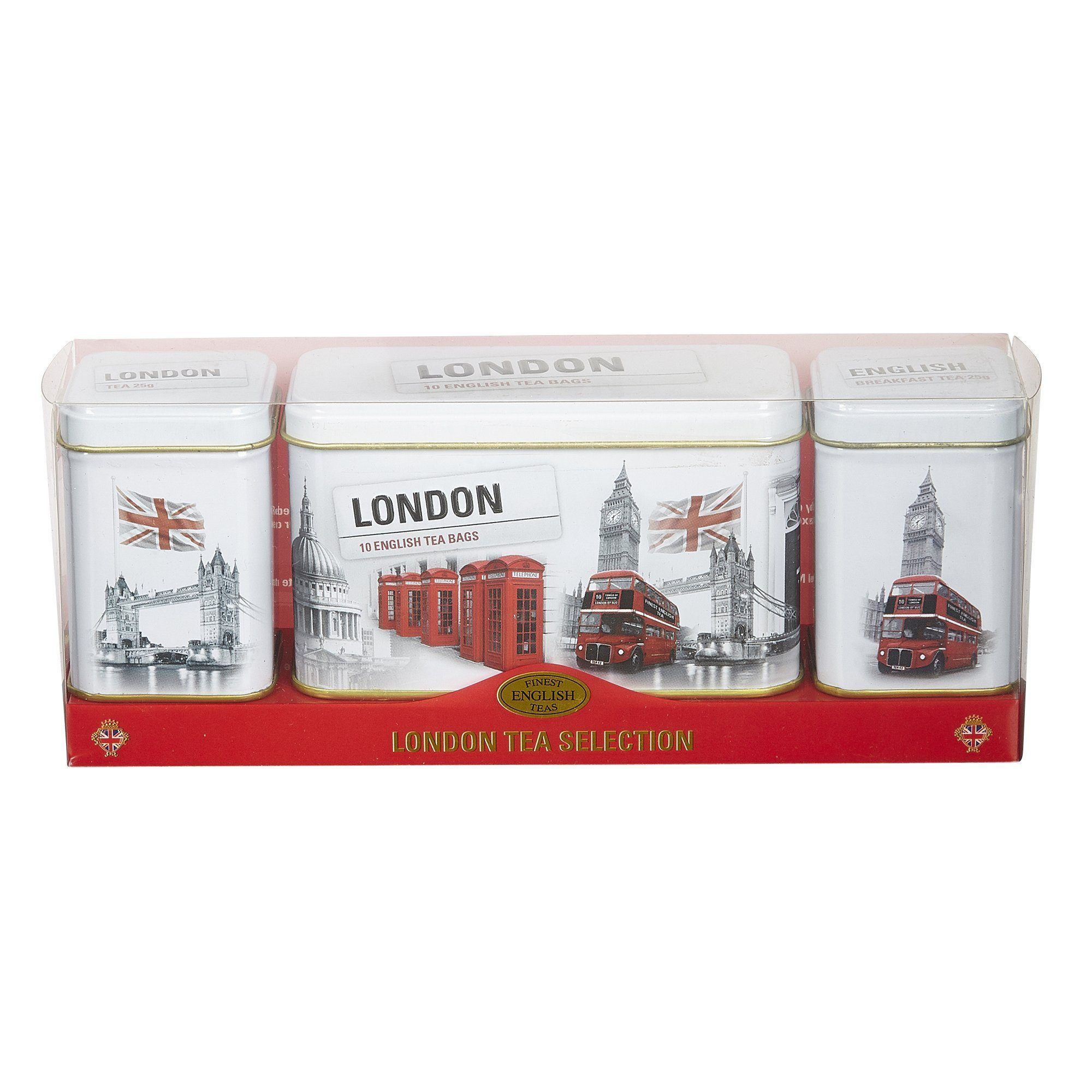 Black and White Iconic London Scenes Tea Selection Triple Gift Pack Black Tea New English Teas