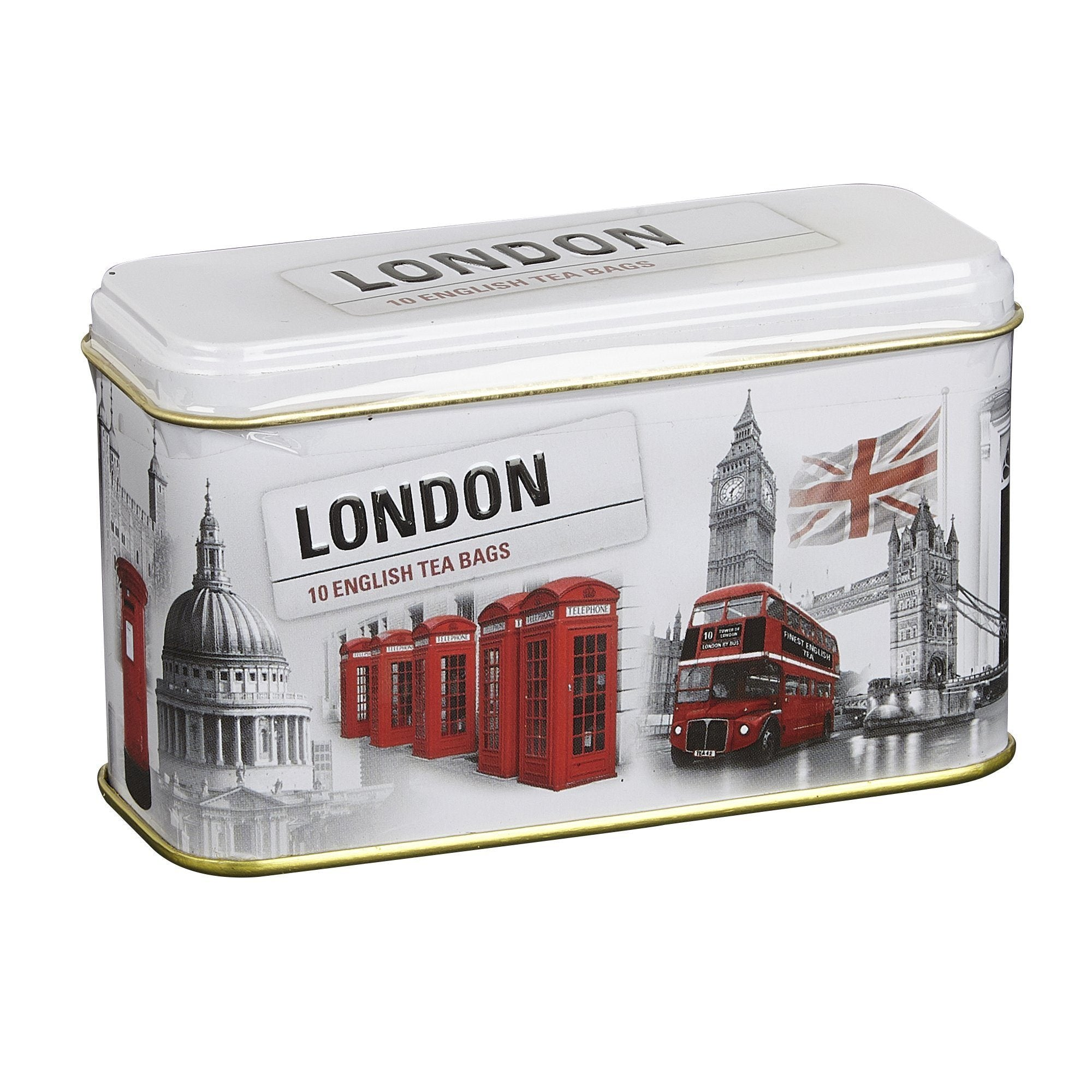 Black and White Iconic London Scenes Tea Tin 10 Teabags Black Tea New English Teas