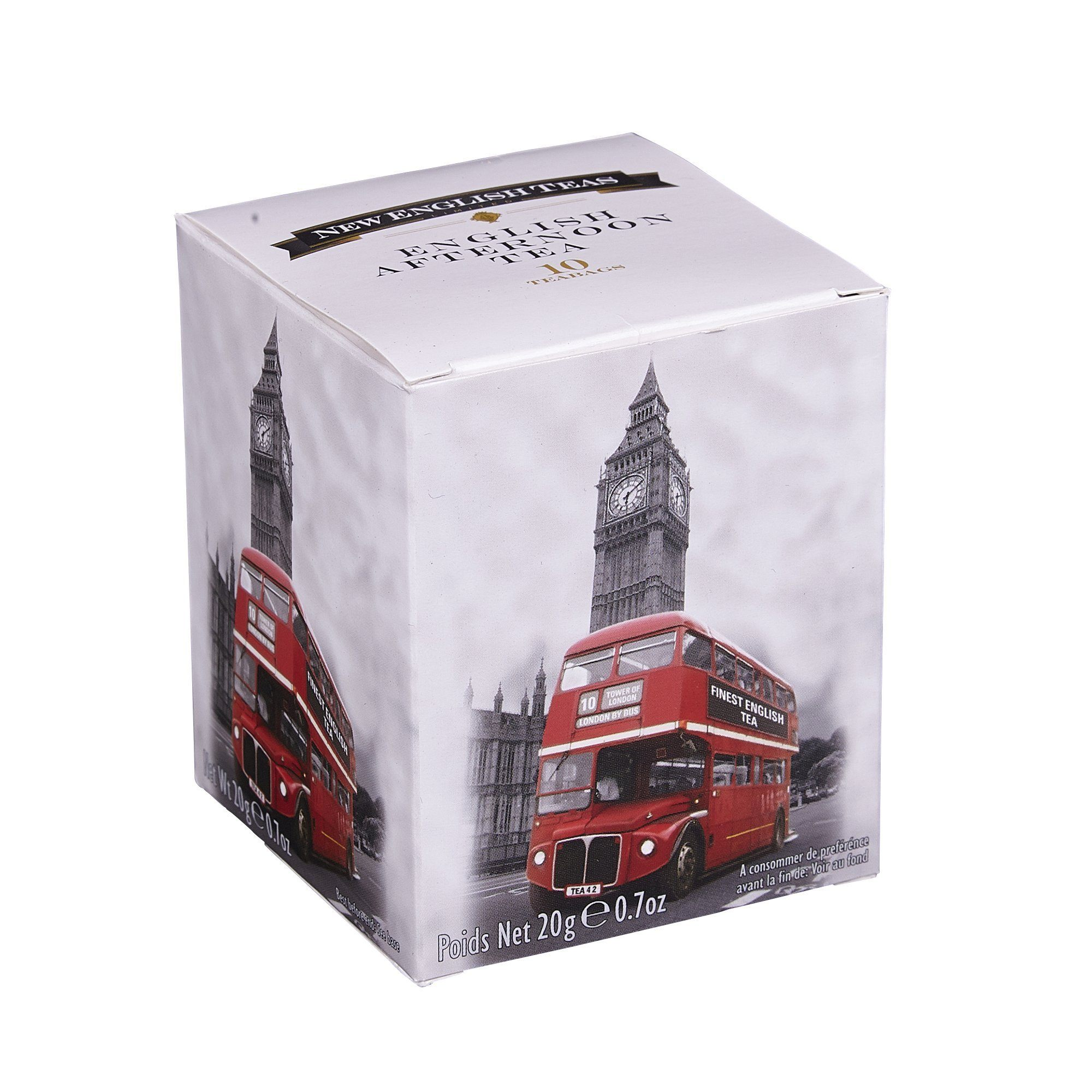 Black and White Red London Bus English Afternoon Tea 10 Teabag Carton Black Tea New English Teas