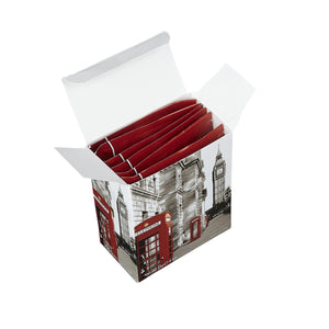 Black And White Red Telephone Box Breakfast Tea 6 Teabag Carton Black Tea New English Teas
