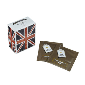 Black And White Union Jack English Tea 6 Teabag Carton Black Tea New English Teas
