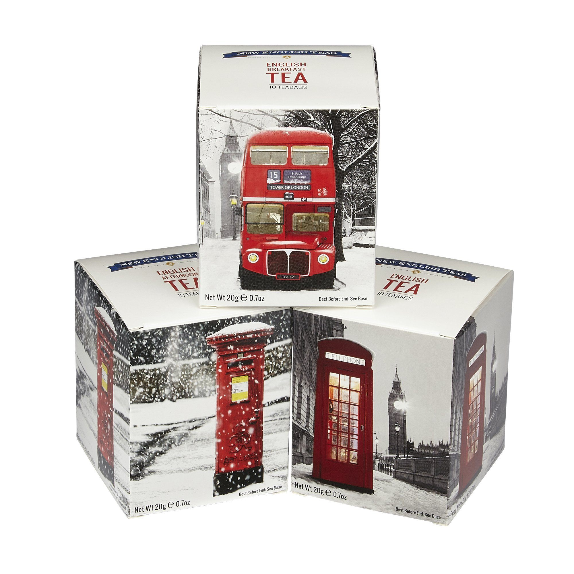 British Icons In The Snow Triple Tea Gift Pack Black Tea New English Teas