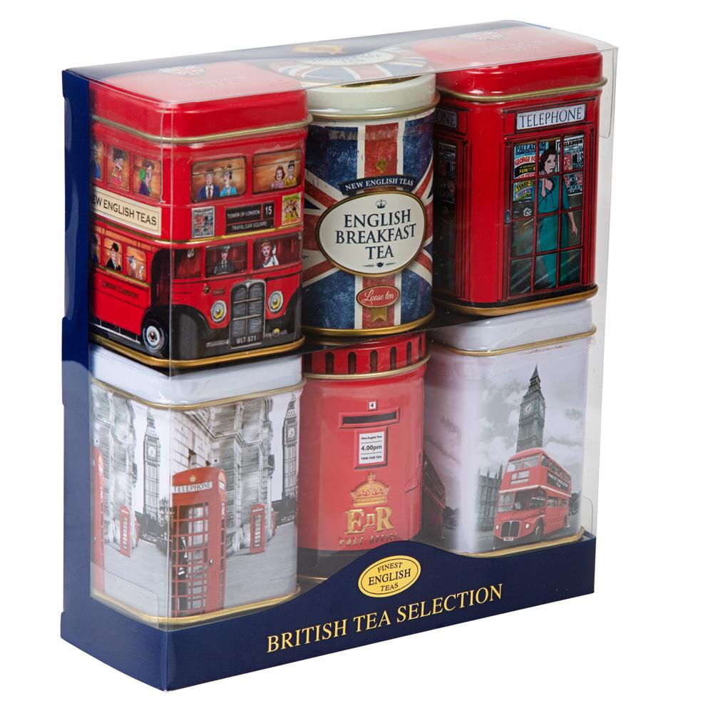 British Tea Selection Mini Tin Gift Pack Black Tea New English Teas