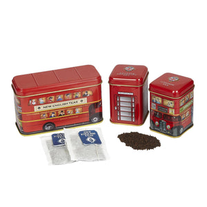 British Traditions Triple Tea Selection Mini Tin Gift Pack Black Tea New English Teas