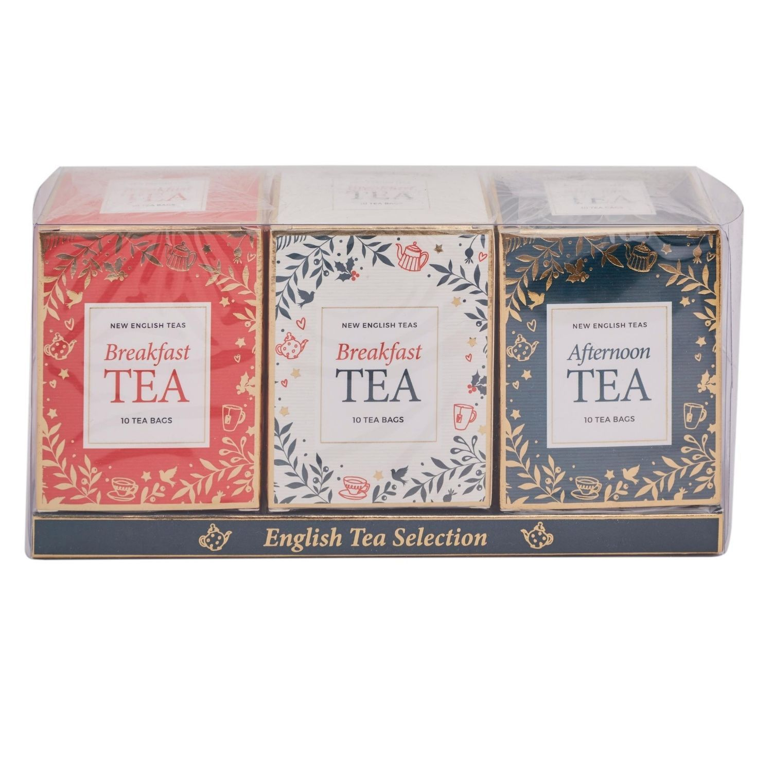 Christmas-Themed Teabag Box Gift Set New English Teas