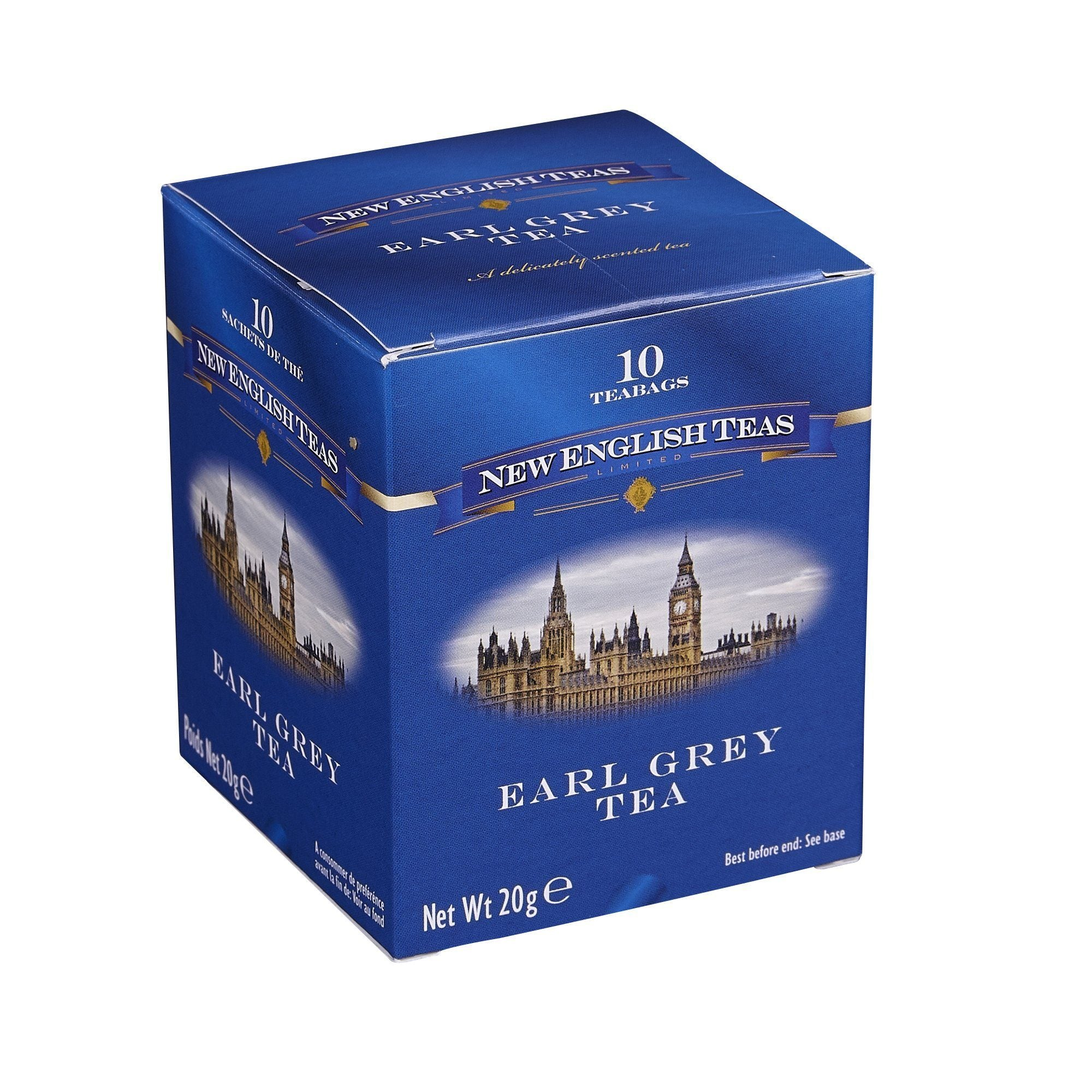 Classic Earl Grey Tea 10 Individually Wrapped Teabags Black Tea New English Teas