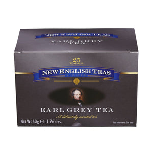 Classic Earl Grey Tea 25 Individually Wrapped Teabags Black Tea New English Teas