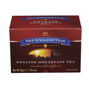 Classic English Breakfast Tea 25 Individually Wrapped Teabags Black Tea New English Teas