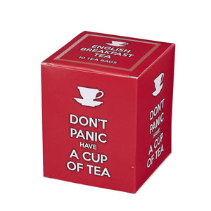 Don't Panic Have A Cup Of Tea 10 Teabag Carton Black Tea New English Teas