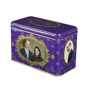 Duke and Duchess of Cambridge English Breakfast Tea Tin 40 Teabags Black Tea New English Teas