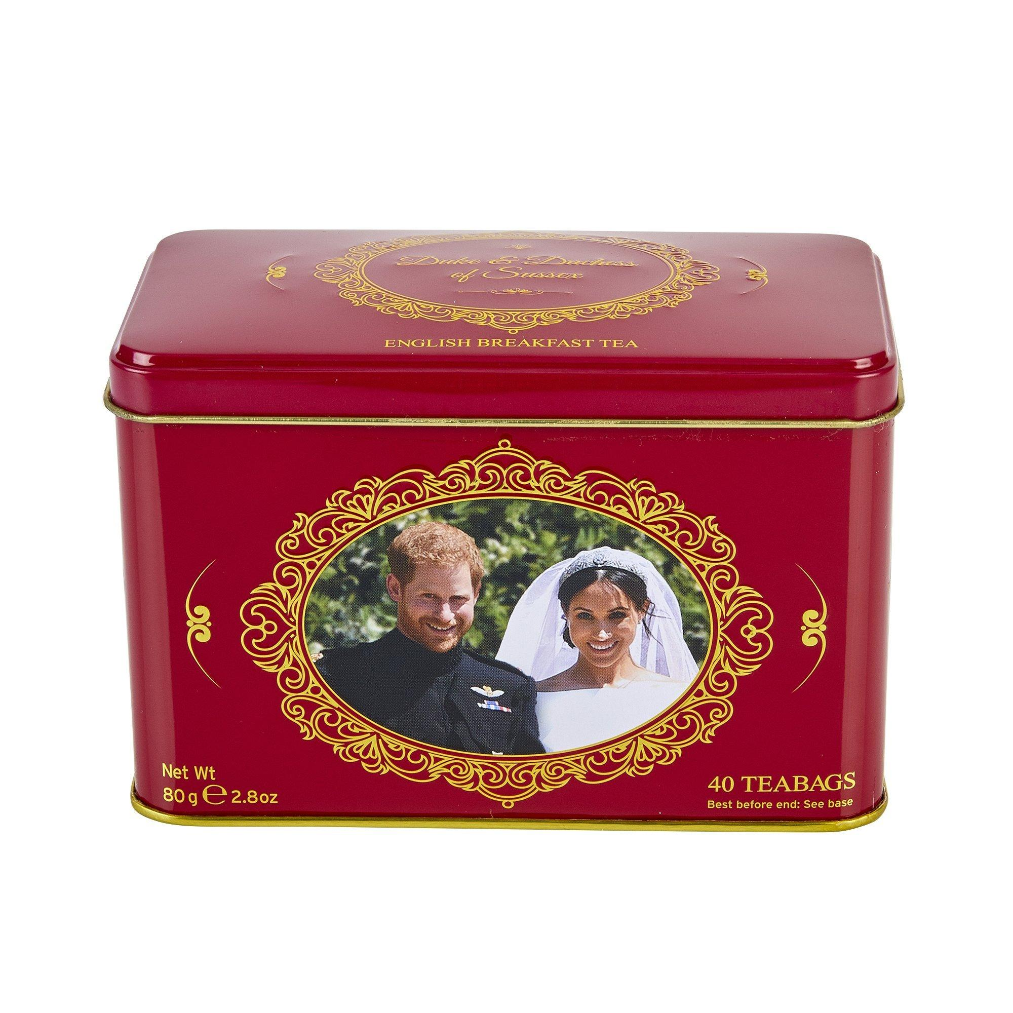 Harry & Meghan Tea Tin with 40 English Breakfast teabags Black Tea New English Teas