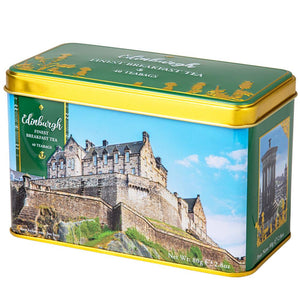 Edinburgh Castle Tea Tin with 40 English Breakfast teabags Black Tea New English Teas