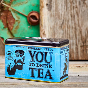 England Needs You! Tin with 40 English Afternoon teabags Black Tea New English Teas