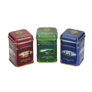 English Classic Tea Selection Mini Tin Gift Pack Black Tea New English Teas