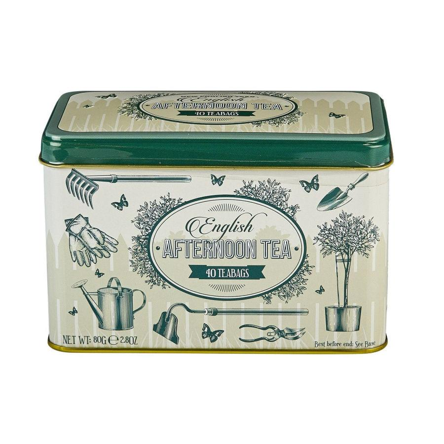 English Garden Tea Tin with 40 Afternoon Tea teabags Black Tea New English Teas