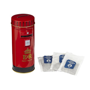 English Post Box Afternoon Tea Tin 14 Teabags Black Tea New English Teas