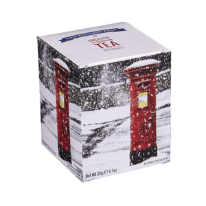 English Post Box Snow Scene Afternoon Tea 10 Teabag Carton Black Tea New English Teas