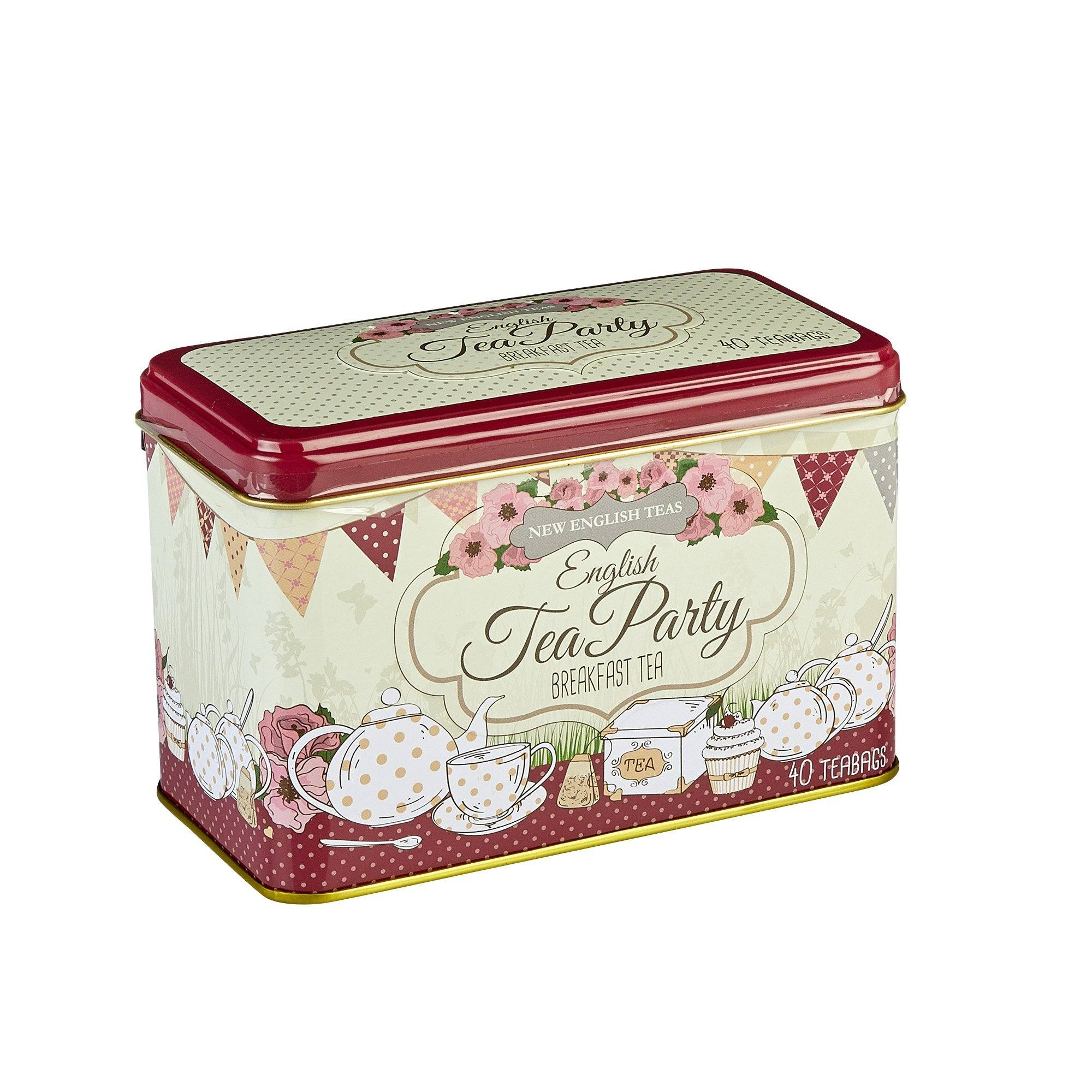 English Tea Party Breakfast Tea Tin 40 Teabags Black Tea New English Teas