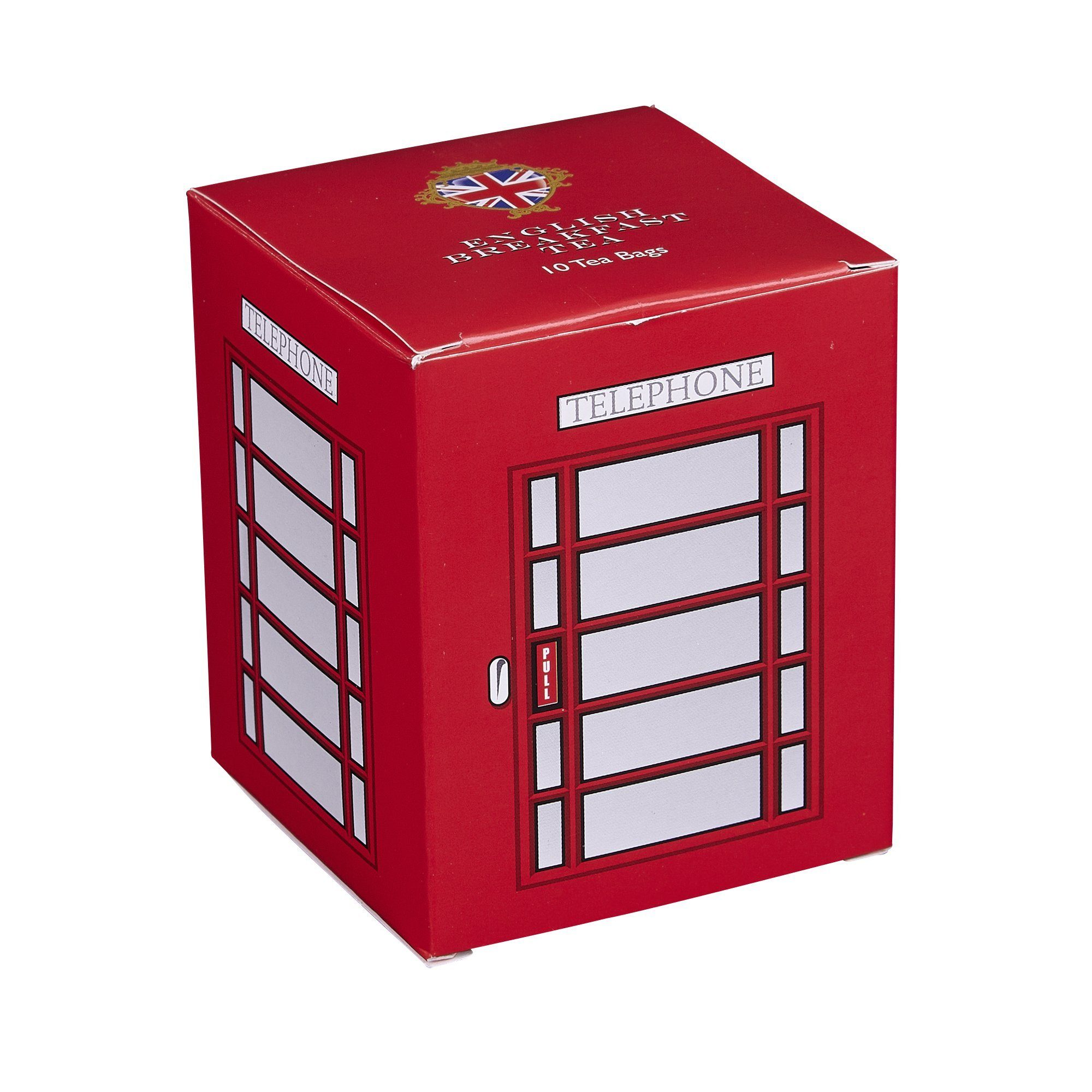 English Telephone Box English Breakfast Tea 10 Teabag Carton Black Tea New English Teas