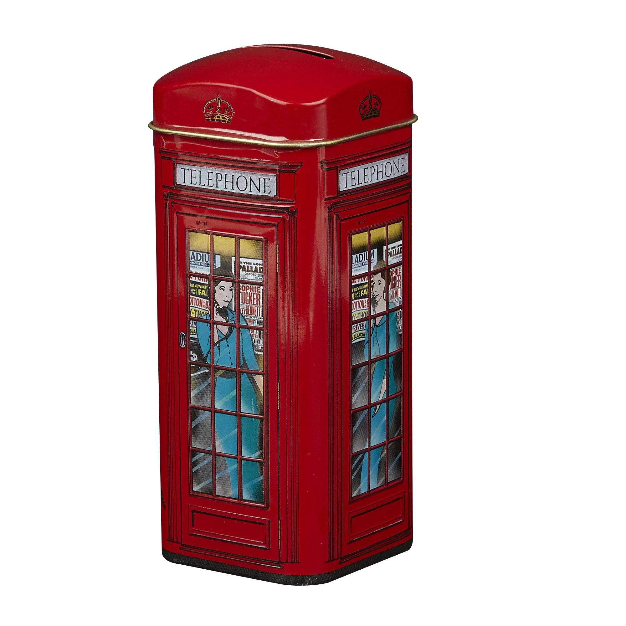 English Telephone Box English Tea Tin 14 Teabags Black Tea New English Teas