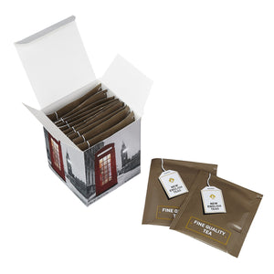 English Telephone Box Snow Scene Breakfast Tea 10 Teabag Carton Black Tea New English Teas