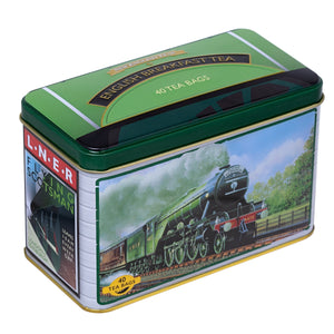 Flying Scotsman Tea Tin with 40 English Breakfast Teabags Black Tea New English Teas