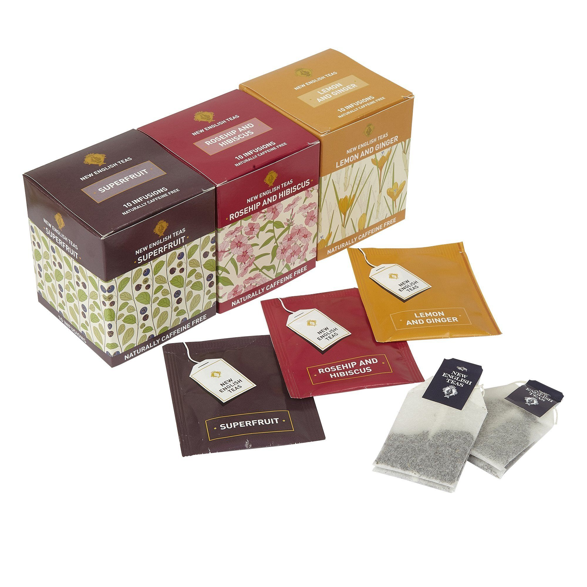 Fruit Tea Selection Fruit Bowl 30 Teabags Fruit Tea, Herbal Tea New English Teas