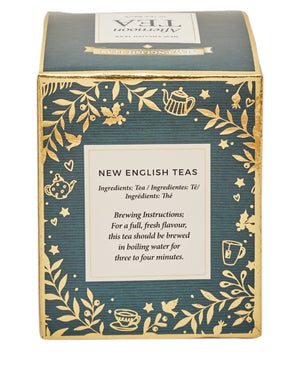 Green Christmas Teabag Box with 10 Afternoon Tea Teabags Black Tea New English Teas
