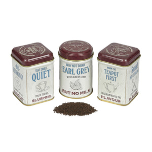 Guide To Tea Drinking Triple Mini Tea Tin Gift Pack Black Tea New English Teas
