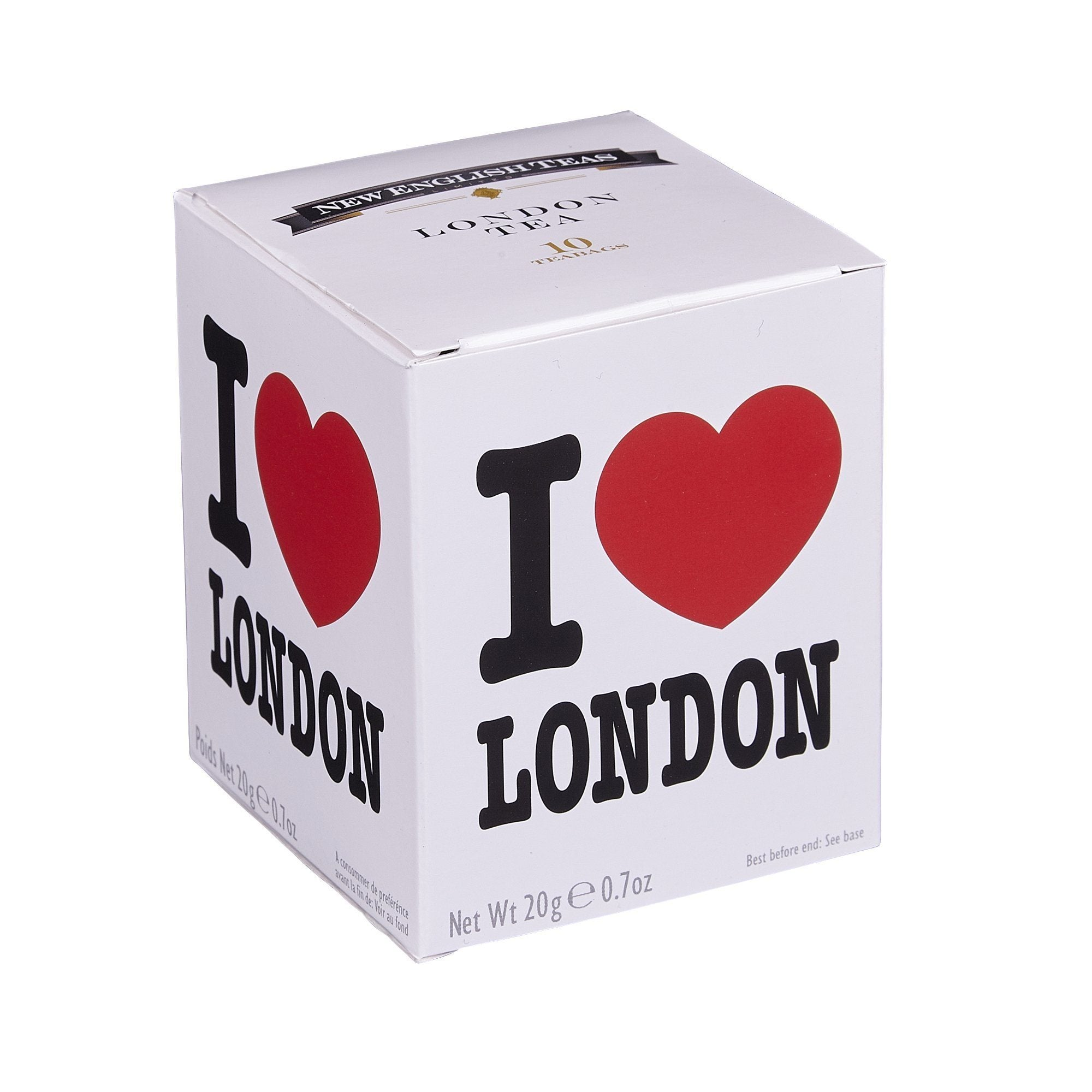 I Love London Afternoon Tea 10 Teabag Carton Black Tea New English Teas