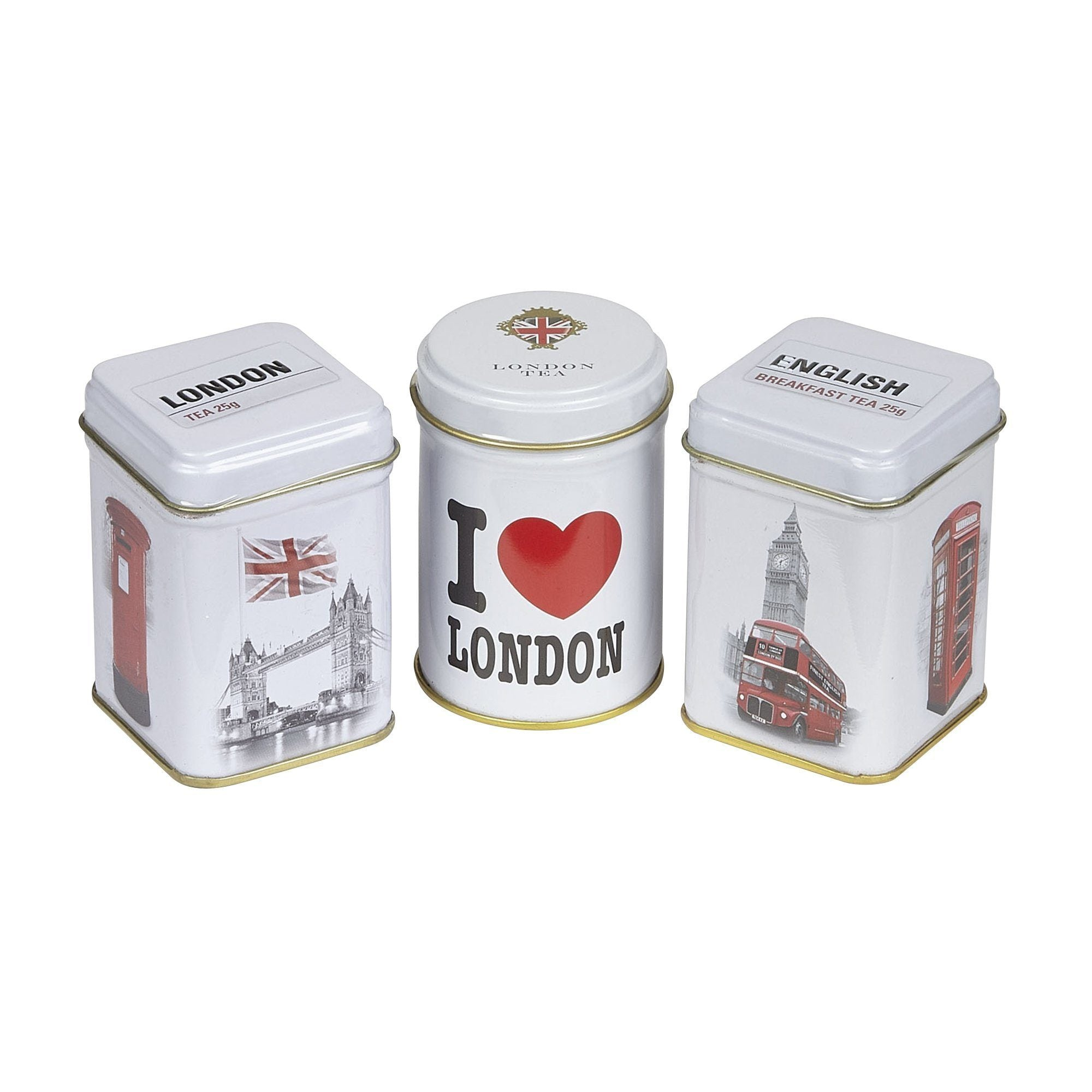 I Love London Triple Tea Selection Mini Gift Pack Black Tea New English Teas