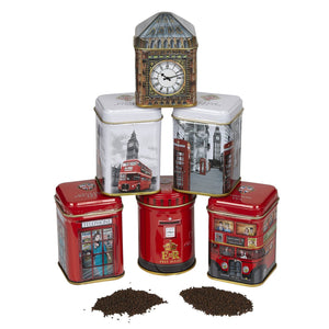 Iconic London English Tea Six Mini Tin Gift Pack Black Tea New English Teas