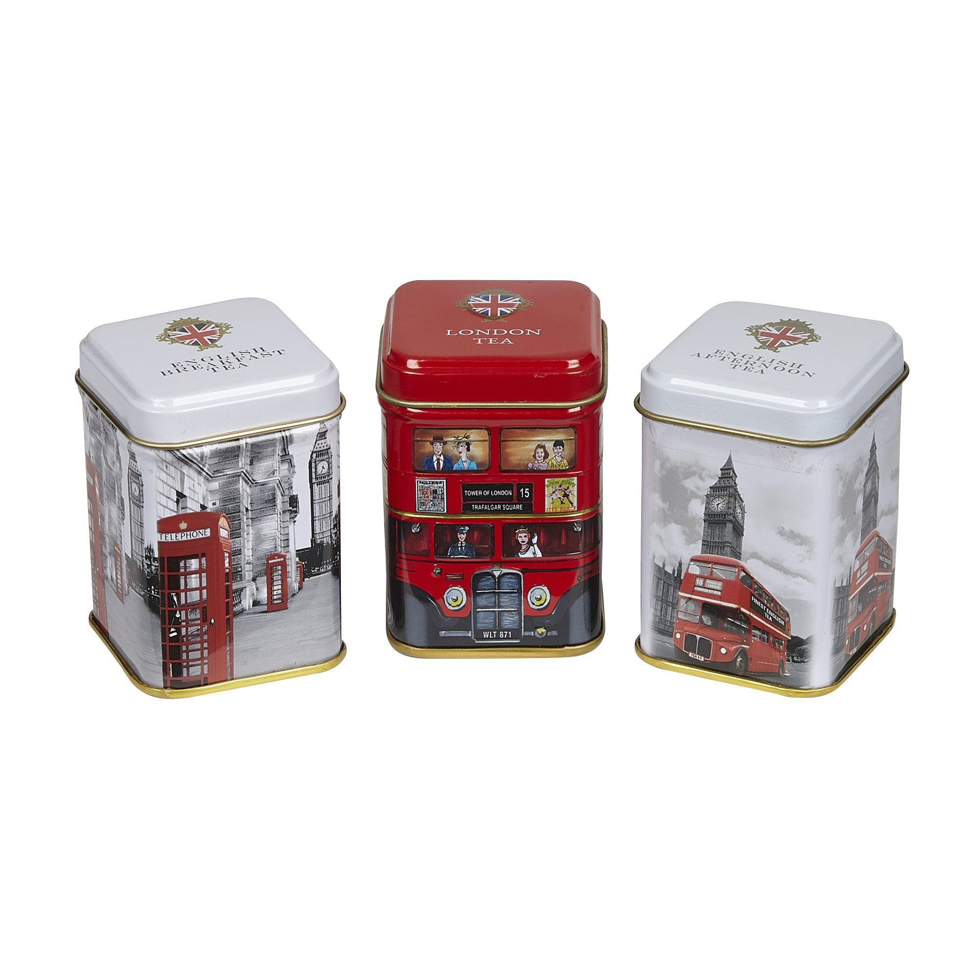 Iconic London Triple English Tea Mini Tin Gift Pack Black Tea New English Teas
