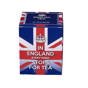 In England Everything Stops For Tea 10 Teabag Carton Black Tea New English Teas