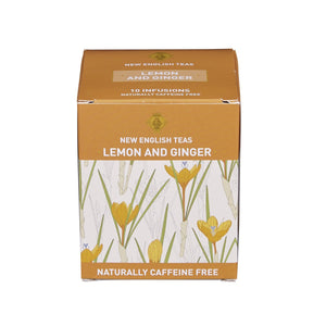 Lemon and Ginger Tea 10 Individually Wrapped Teabags Fruit Tea New English Teas