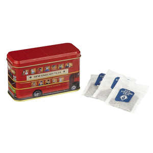 London Bus Tea Tin 10 Teabags Black Tea New English Teas