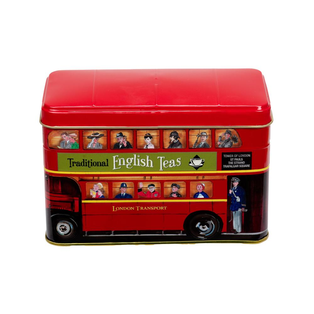 London Bus Tea Tin 25 Teabags Black Tea New English Teas