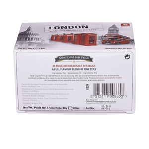 London Selection English Breakfast Tea 40 Teabag Carton Black Tea New English Teas