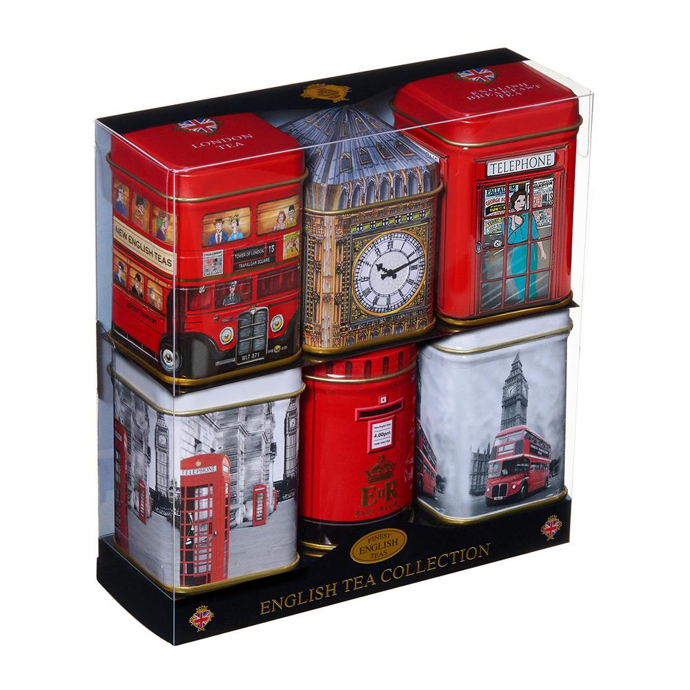 London Sights Mini Tea Tin Gift Set with loose-leaf tea Black Tea New English Teas
