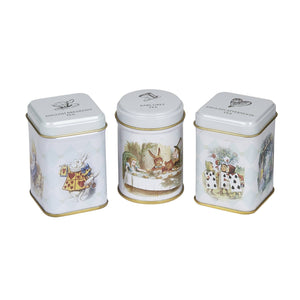 New English Teas Alice in Wonderland Triple Tea Selection Mini Tins Black Tea New English Teas