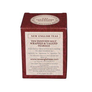 Original English Breakfast Tea 10 Individually Wrapped Teabags Black Tea New English Teas
